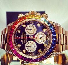 546e43c1f28e Rainbo#watch# Mk Watch, Gold Watch, Rolex Watches, Handbag Accessories,
