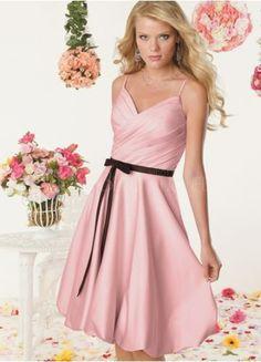 short pink pleated dress