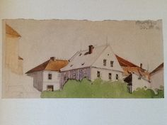 Egon Schiele Sketch from Krumau 1906 on papier 10.4 x 21.1 cm Privat Collection