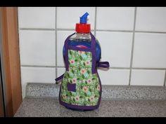 Spülischürze - Schürze für Spüliflasche nähen - YouTube