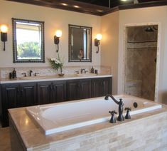 Travertine bathroom from our Greenwood Village location