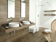 Wall-mounted tile / porcelain stoneware / for bathroom / wood look - PAR-KER® / MONTANA COTTAGE - Porcelanosa