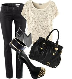 """""""edgy chic"""" by haterism on Polyvore"""