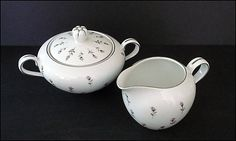 SOLD!  THANK YOU!  Harmony House Creamer and Sugar Bowl with Lid  Rosebud