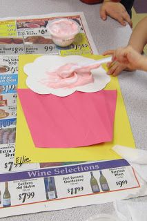 What a cute idea from Mrs.Karen's Class Blog (for literacy project): Book: If You Give a Mouse a Cupcake  Shaving cream Frosted Cupcakes