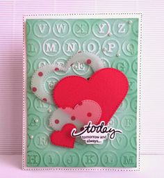 Crafting ideas from Sizzix UK: Embossed background card