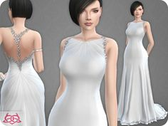 Wedding dress 10 recolor 5 by colores urbanos at tsr The Sims 4 Pc, Sims 4 Mm, Sims 4 Wedding Dress, Wedding Dresses, Sims 4 Dresses, Sims 4 Clothing, Sims 4 Update, Sims 4 Cc Finds, Sims Mods