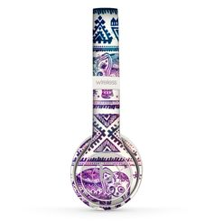 The Tie-Dyed Aztec Elephant Pattern Skin Set for the Beats by Dre Solo 2 Wireless Headphones Cute Headphones, Sports Headphones, Bluetooth Headphones, Wireless Speakers, Tech Accessories, Cell Phone Accessories, Timberland Style, Timberland Fashion, Beats By Dre