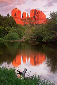 Cathedral Rocks at sunset in Sedona, Arizona Places To Travel, Places To Visit, Travel Destinations, Sedona Arizona, Arizona Travel, Desert Dream, Closer To Nature, Greatest Adventure, Science And Nature