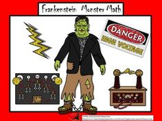 Frankenstein Monster Math involves solving word problems with references to the classic Frankenstein by Mary Shelley. Students answer questions about distances, time, liquid volumes, masses, money, and problems that express measurements and represent quantities using diagrams.