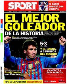 Te presentamos 'El Papelón' de este 21 de marzo. Messi, máximo goleador histórico blaugrana, se lleva las portadas del día hoy.