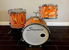 1960's Slingerland Drum Set 3 Pc