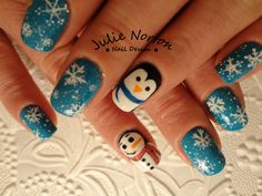 Cute Winter nails Inspired by Robin Moses <3