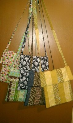 More purses...2 made from Jelly Rolls. :)