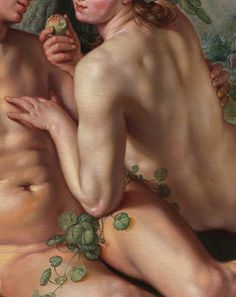 Hendrik Goltzius (1558–1617)   The Fall of Man (Detail) Oil on canvas, 1616