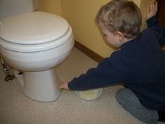 how to clean bowl under bend toilet bowl