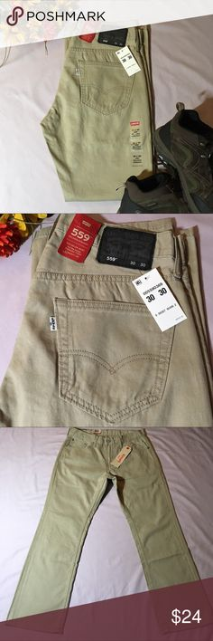 NWT Levi's 559 Relaxed Straight 30x30 Pants Tan NWT Levi's 559 Relaxed Straight Soft Five 5 Pocket Chinos 100% Cotton. Tan with black patch. Levi's Pants Chinos & Khakis