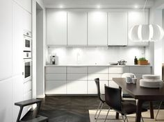 Ikea kitchen gallery white kitchen images furniture design for bedroom ikea small kitchen gallery White Kitchen Appliances, Kitchen Cabinetry, Kitchen Flooring, Kitchen Countertops, Kitchen Black, Kitchen Units, Ikea Small Kitchen Table, Kitchen Decor, Kitchen Ideas
