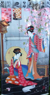A captivating, Asian-inspired fabric panel! Perfect for your next ... : japanese quilt fabric - Adamdwight.com