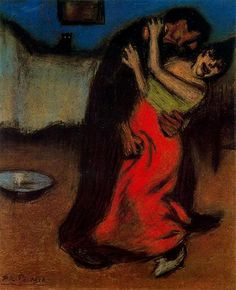 The brutal embrace, 1900 - Pablo Picasso
