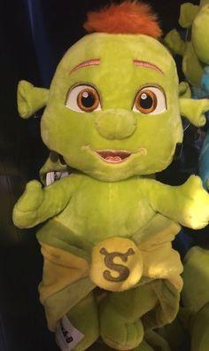 Universal Studios Shrek 4-D Bebê Menina Bebê Ogro Em Cobertor De Pelúcia Nova com etiquetas