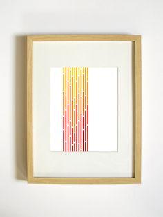 Retro Dandelion Art Print Orange 8 x 10 by RetroMenagerie Geometric Wall Art, Floral Wall Art, Geometric Shapes, Geometric Patterns, Christmas Tree Art, Christmas Decor, White Christmas, Merry Christmas, Holiday Decor