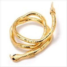 Novel Flexible Snake Design Bracelet Brace Lace Bangle Jewelry Collection for Women Ladies - Golden