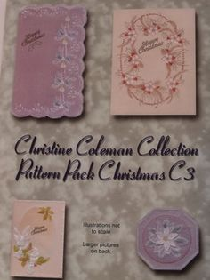 PATTERN PACK C3 BY CHRISTINE COLEMAN    Christmas patterns by Christine Coleman.