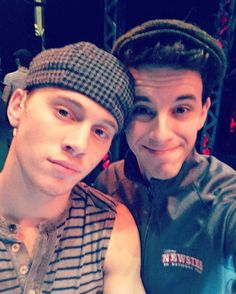 """""""Skybelle is officially an adult today! Happiest of birthdays to one of the best guys I know on stage and off! #newsiesontour #skybelle"""""""
