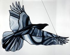 Now doing Made to Order Stained Glass Ravens by BerlinGlass