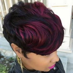 21 best ideas for hair color black short pixie cuts Short Sassy Hair, Short Hair Cuts, Short Hair Styles, Short Pixie, Pixie Cuts, Love Hair, Great Hair, Gorgeous Hair, My Hairstyle