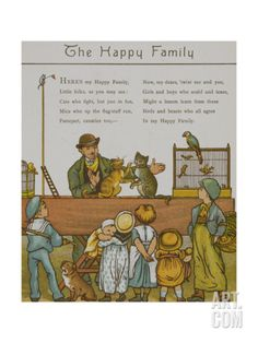 The Happy Family. a Man Entertaining Children With Animals. Illustration From London Town' Giclee Print by Thomas Crane at Art.com