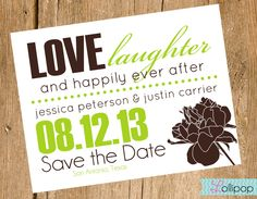 The saying for save the date