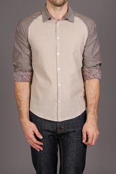 Arsnl Xavier Beige Raglan Contrast Shirt