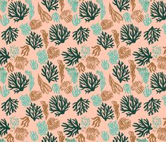 Pink pastel corals mix by pattern_house #pattern #design #love #flowers #floral #nature #surfacedesign #textiledesign #patterndesign