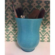 Blue Glitter Makeup Brush Holder