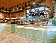 Kogias bakery - picture gallery bakery в 2019 г. Pastry Shop Interior, Cafe Interior Design, Cafe Design, Coffee Cafe Interior, Design Design, Plywood Furniture, Design Furniture, Patisserie Design, Bakery Design