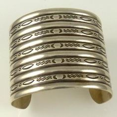1970s Stamped Cuff by Vintage Collection - Garland's Indian Jewelry