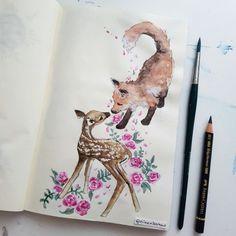eileen bahar arts Fox and the Fawn Elain and Lucien