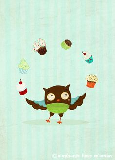 Owl Hearts Cupcakes