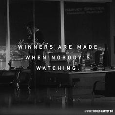 Who you are when nobody's watching? #whatwouldharveydo #harveyspecter #motivationalquotes #gabrielmacht #badass #work #game #winner #hustle #hustler #harveyspecterquotes