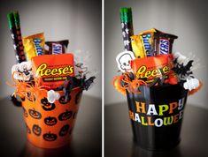 #Burtonandburton #frightfullyfun mini halloween gift baskets