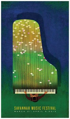 Savannah Music Festival poster by Brian Stauffer. 25 ways to improve your poster designs.