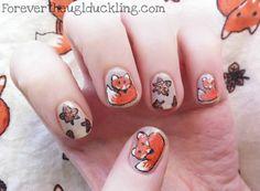 fox     #nail #nails #nailsart Fox Nails, Animal Nail Art, Plain Nails, Cute Fox, Holographic Nails, Pretty Nails, Hair And Nails, Nail Art Designs, Cool Hairstyles