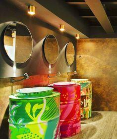 Bathroom Art Public 42 New Ideas Restaurant Design, Deco Restaurant, Bar Deco, Deco Cafe, Café Design, Store Design, House Design, Coffee Shop Design, Toilet Design