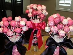 Pink generic cake pops