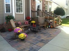 front yard patio ideas on a budget | front entry garden room ... - Front Patio Ideas