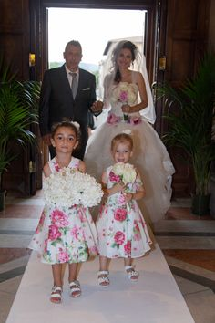 With the Father and two little Girls... Info@ferraliweddingplanner.com