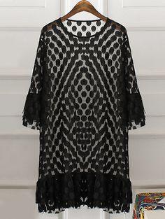 Sweet Plus Size Spaghetti Strap Tank Top + Scoop Neck Flounced Polka Dot Print Dress Women's Twinset