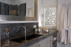 concrete counter with integral sink